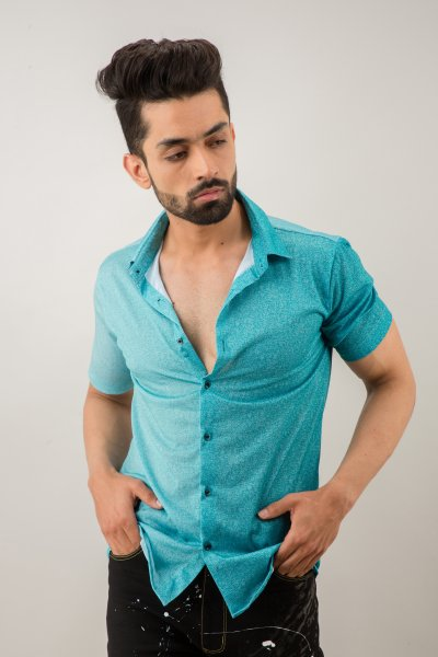 Flowing Shirt In Teal